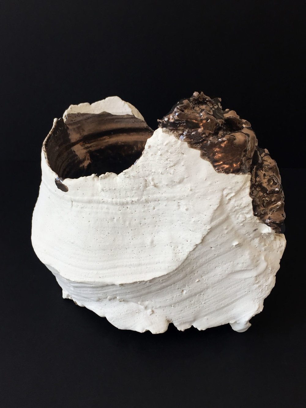 "Gesture (c) , 2010 glazed ceramic 6.5"" x 9"" x 7.25"""