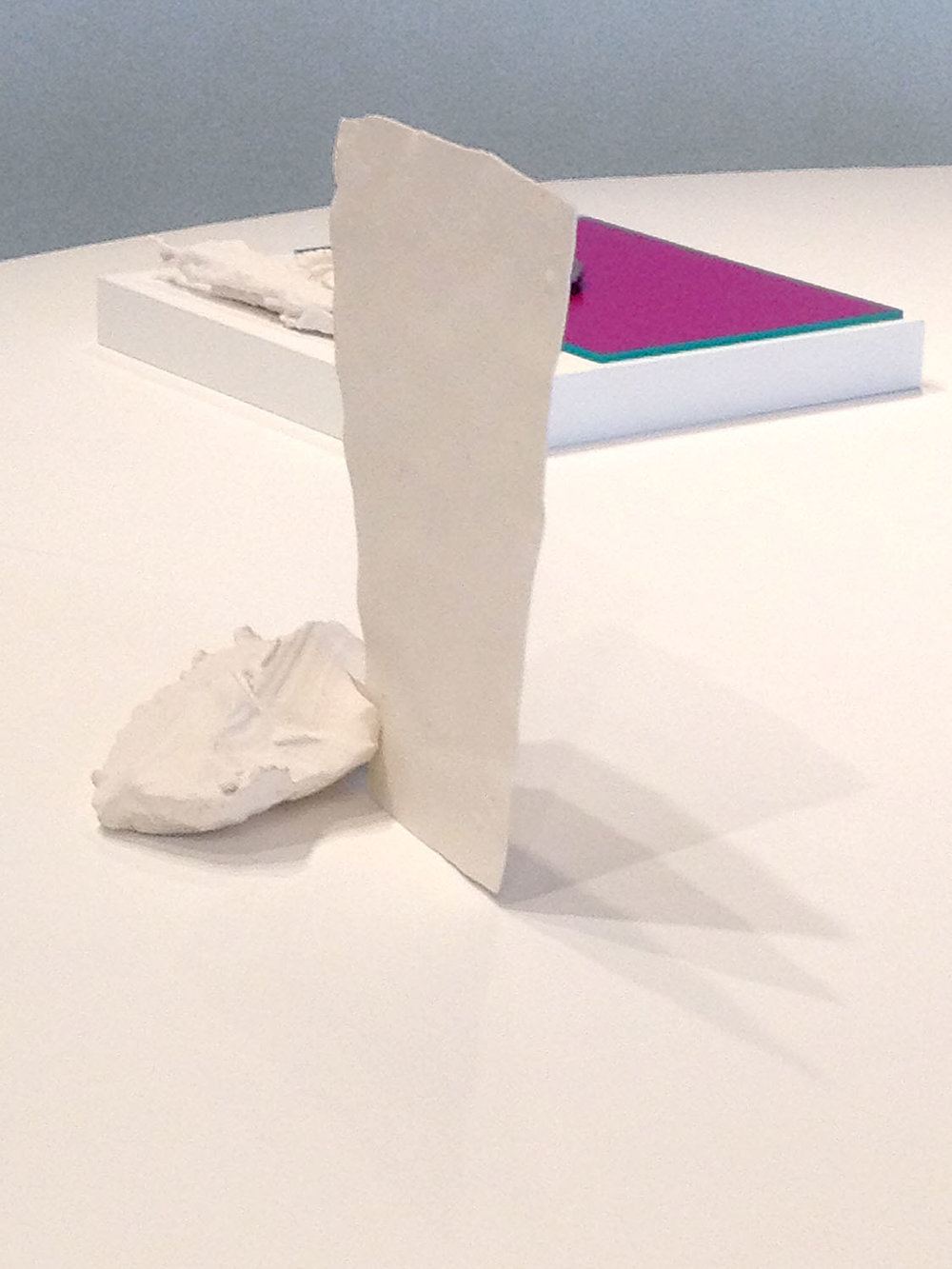 Monument , 2014, porcelain, glazed ceramic, 14 x 13 x 9 inches