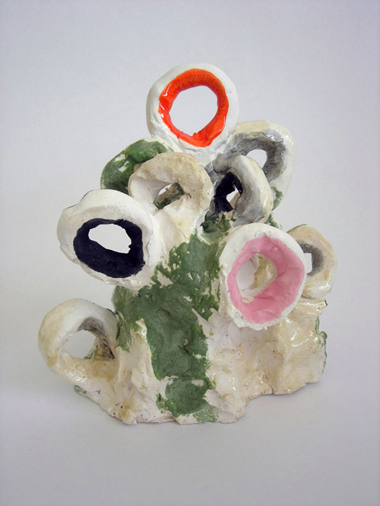 "Background , 2010 glazed ceramic 7.5""  x 10.5"" x 6"""