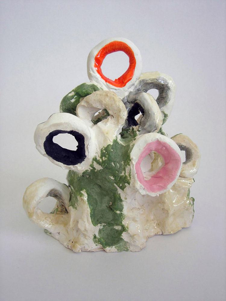 """Background , 2010 glazed ceramic 7.5"""" x 10.5"""" x 6"""""""