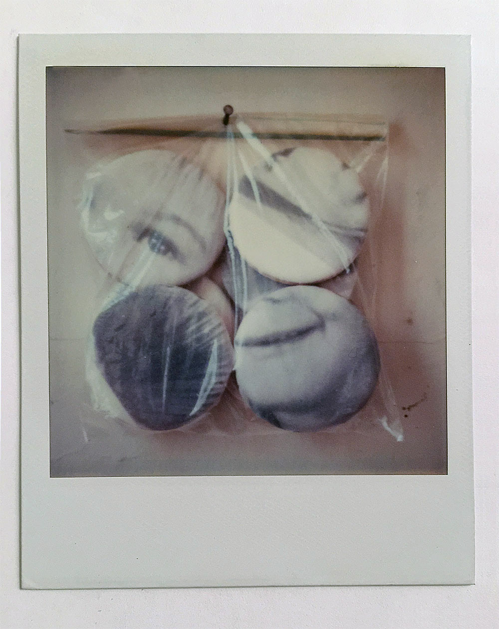 "Untitled in a bag , 1996 Polaroid 3.5"" x 4.25"""