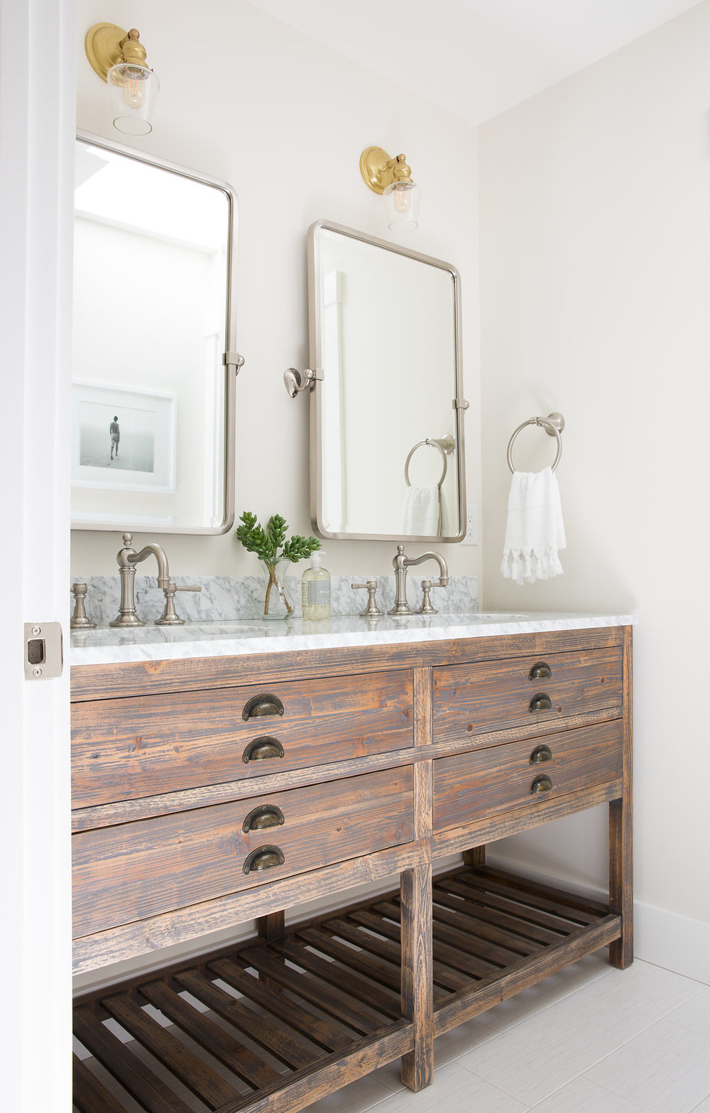 Love u0026 Interiors Berkeley Modern Craftsman Classic Kids Bath with Rustic Vanity and Mixed Metals - & Interior Design - Love u0026 Interiors