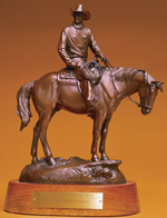 The Bronze Wrangler Award Statue - Designed by Oklahoma artist John Free.Image used under (CC BY-SA 3.0) http://www.nationalcowboymuseum.org/index.html