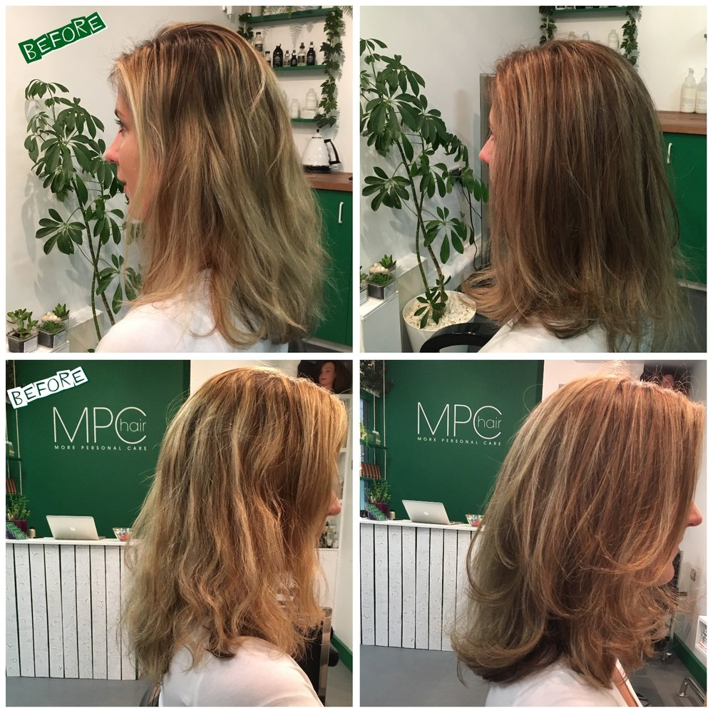 Colour transformation, foils give balance to achieve a natural look.  Working with free ammonia color/bleach system from Davines your hair will leave looking good and feeling stress free.