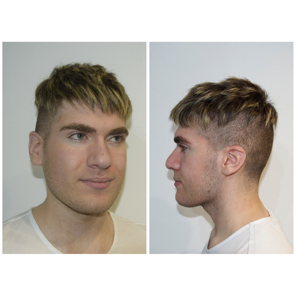 Edgy undercut - express yourself! Wear it down or up, its up to you.Add some color to create more texture and uniqueness.