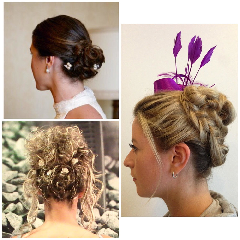 - Ornate Updo for a special occasion.