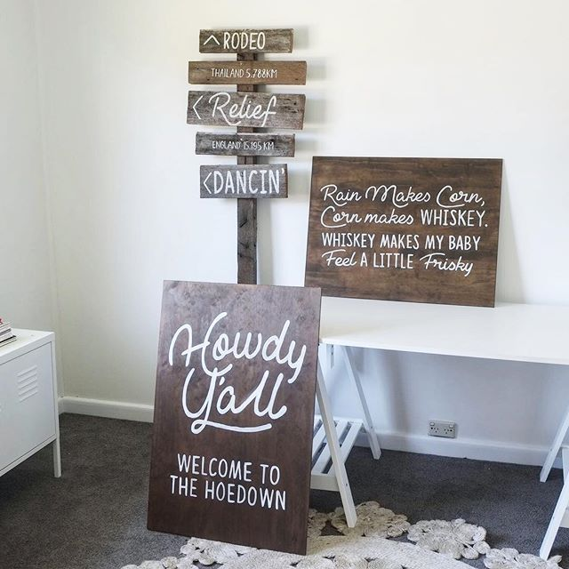 Giddy up Buttercup!🌻⠀ White words on stained ply and custom sign post by moi😉⠀ @stylepopevents .⠀ .⠀ .⠀ .⠀ .⠀ .⠀ .⠀ #girlbossesau #girlboss #femalefounders #womenwithambition #communityovercompetition #bossbabe #femaleboss #girltribe #fempire #womenwhowork #theleaguewomen #thefutureisfemale #weddingdecoration #sydneyweddingstylist #sydneyweddingplanner #femaleentrepreneur #womeninbiz #startuplife #dreambigger #shesaidyes #ido #instawedding #bridetobe #gettingmarried #weddinginspo #weddinginspiration #weddingideas #weddingstyle #weddingdetails #weddingplanning⠀⠀⠀