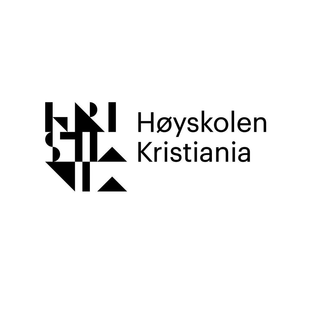 Høyskolen Kristiania   Sisteårsstudentane  Ludvik Halstad, Filip Gran og Marthe Undrum      ved Høyskolen Kristiania har designa dette året sin visuelle profil.