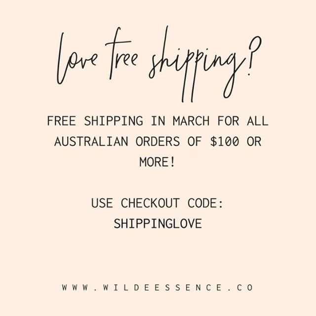 Who doesn't love free shipping! ⠀⠀⠀⠀⠀⠀⠀⠀⠀ ⠀⠀⠀⠀⠀⠀⠀⠀⠀ We are offering FREE SHIPPING for the whole month of March on all orders of $100 or more within Australia. So if you've been eyeing off any of our 13 ranges to try, whether for yourself, as gifts or to use to support your Wellness Advocate business, now is a great time to buy. ⠀⠀⠀⠀⠀⠀⠀⠀⠀ ⠀⠀⠀⠀⠀⠀⠀⠀⠀ All you need to do is add $100 of products or more to your cart and enter the code SHIPPINGLOVE at checkout, and we'll ship your goodies straight to your door within Australia for free. ⠀⠀⠀⠀⠀⠀⠀⠀⠀ ⠀⠀⠀⠀⠀⠀⠀⠀⠀ * Terms + Conditions: Available until Midnight 31 March 2018. Not  to be used in conjunction with any other offer. Available on Australian orders of $100 or more only. The code SHIPPINGLOVE must be entered at checkout. ⠀⠀⠀⠀⠀⠀⠀⠀⠀ ⠀⠀⠀⠀⠀⠀⠀⠀⠀ .⠀⠀⠀⠀⠀⠀⠀⠀⠀ ⠀⠀⠀⠀⠀⠀⠀⠀⠀ . ⠀⠀⠀⠀⠀⠀⠀⠀⠀ ⠀⠀⠀⠀⠀⠀⠀⠀⠀ #essentialoils #essentialoilblends #naturalhealth #naturalliving #wildeessence #intentionalliving #essentialoillabels #essentialoilrecipes #essentialoilclass #rollerbottle #rollerblends #rollerbottleblends #rollerbottleclass #rollerbottlelabels #makeandtakeclass #diyessentialoils #naturalsolutions #naturalwellness  #naturalbeauty #freeshipping #inspiration #doterra #diyblends #chemicalfreehome #chemicalfreeliving #lowtox #lowtoxliving #wellnessadvocate