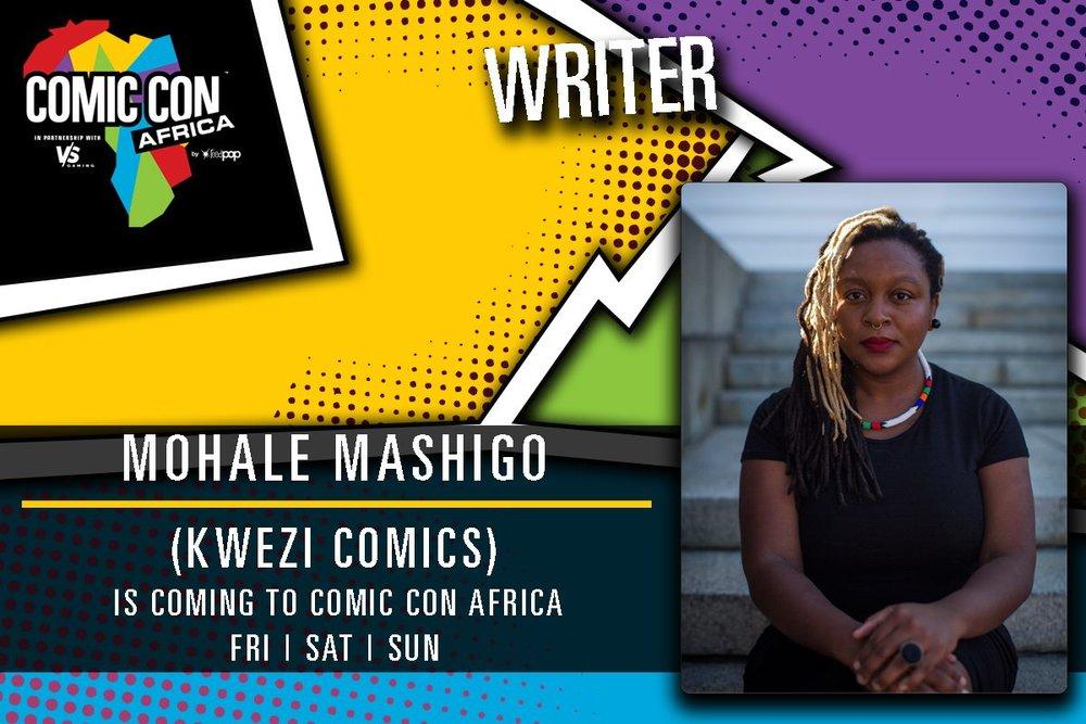 Kwezi Mohale Mashigo Comic Con Africa