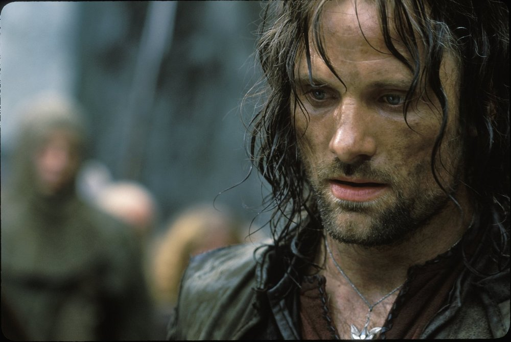 Aragorn - Tall, dark, handsome (brooding, wild, old…) – Aragorn is the crush of the traditionalist. You probably also fancy Mel Gibson and Brad Pitt.
