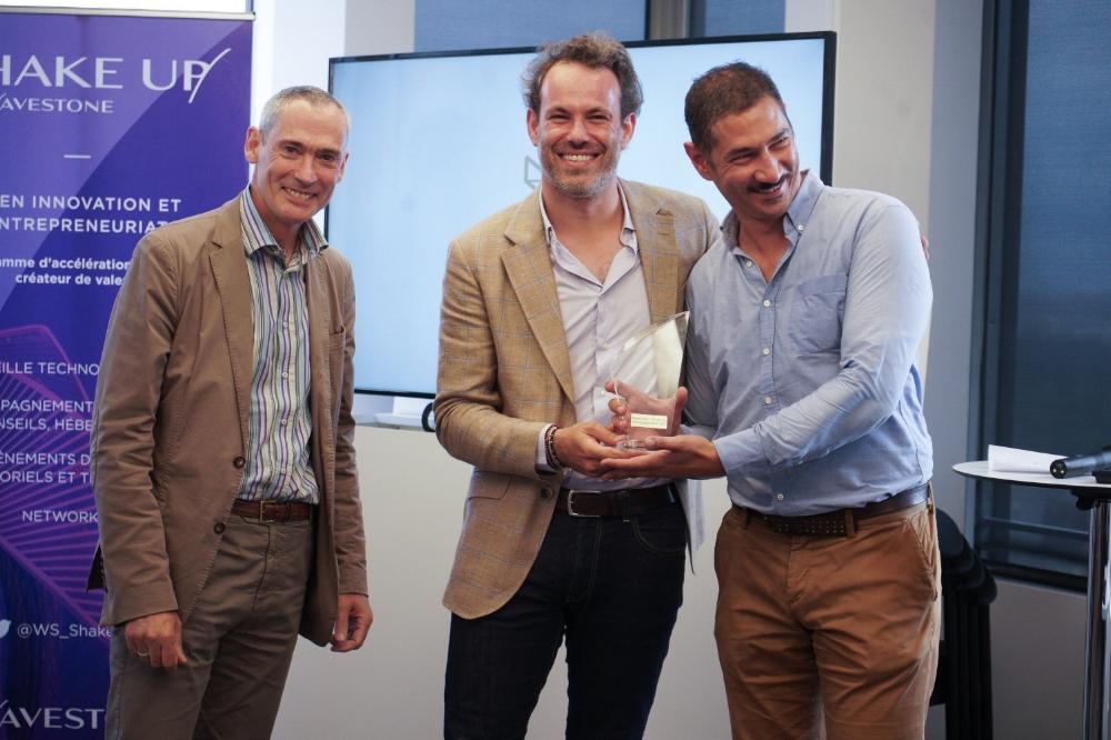 Johan Gautier et Marc-Antoine Garrigue recevant le Grand Prix le 10 juillet 2017