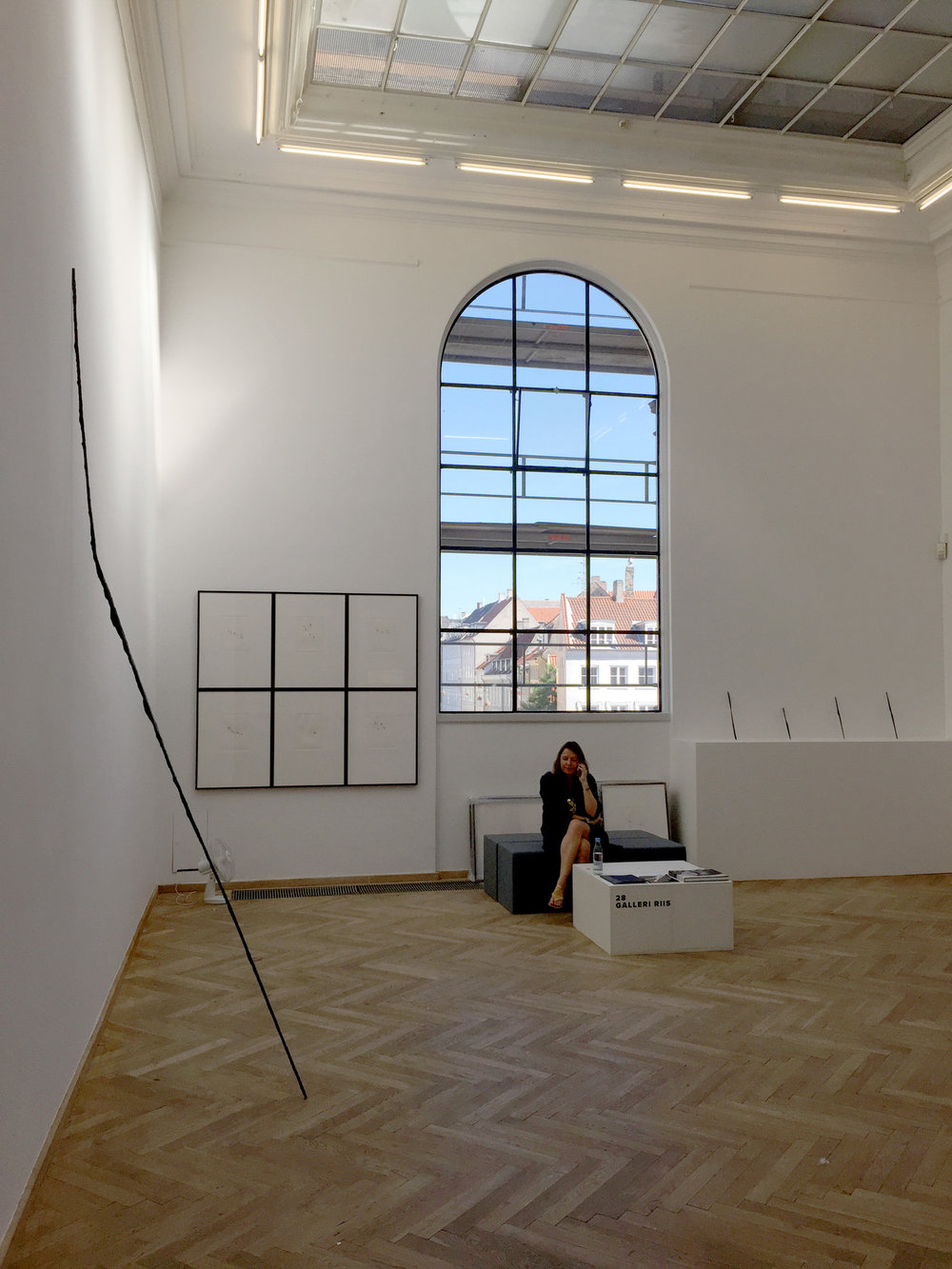 Installation view, JAN GROTH, Sign - Drawing, Tapestry, Sculpture, Galleri Riis / Chart Art Fair, 2015
