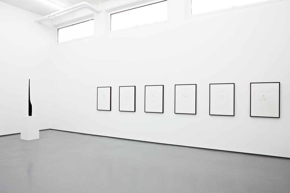 Installation view, JAN GROTH, New drawings, Galleri Riis, Oslo 2012