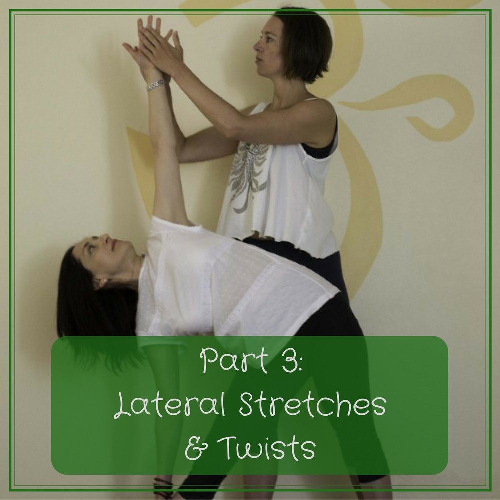 Video 3 (72mins) - In the third class we look at lateral stretches and twists, exploring the theory of lengthening the sides of the body as well as the importance of rotating the spine.