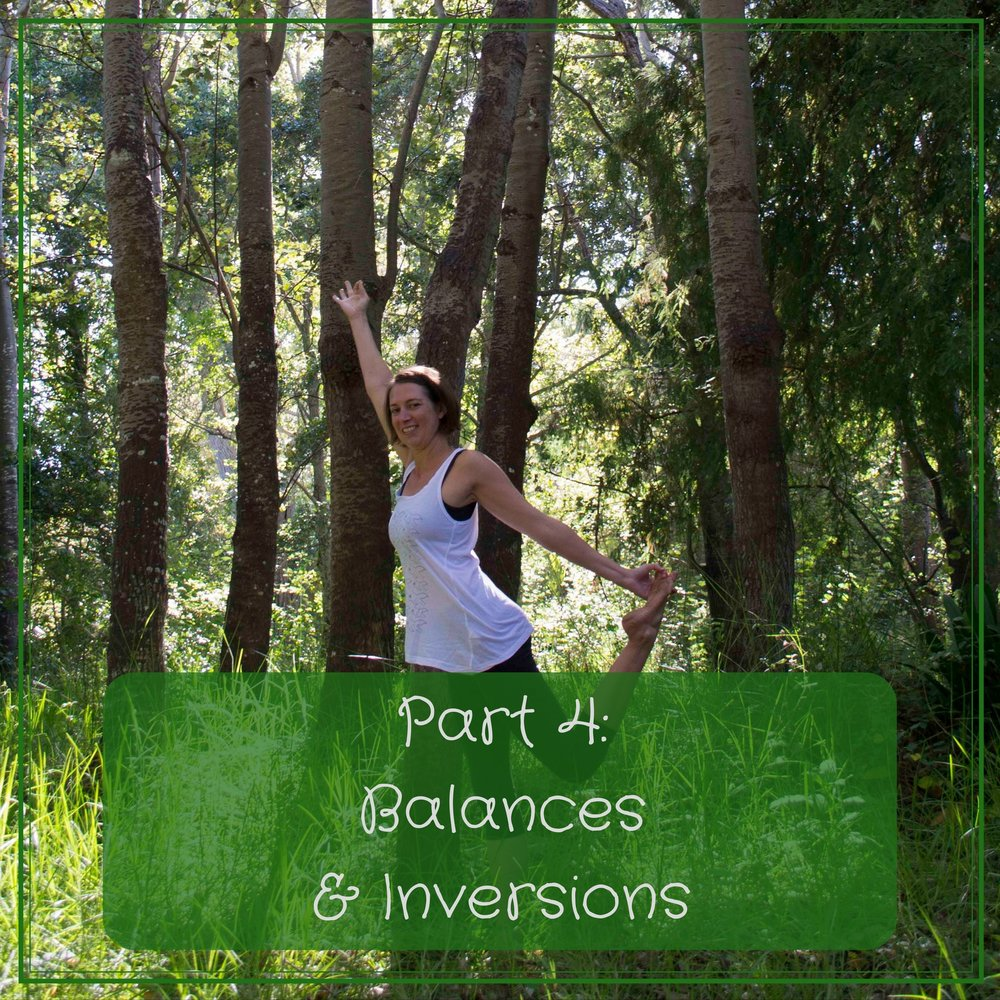 Video 4 (60mins) - In the forth and final class we explore balances and inversions. We use the teachings from the previous three classes to end off with a well rounded Yoga practice.