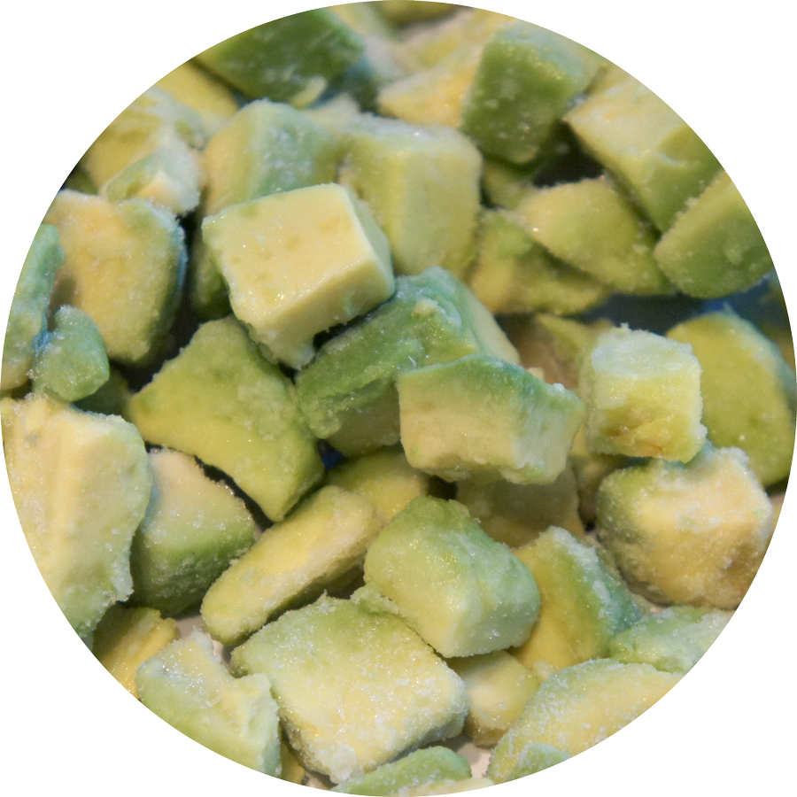Cubes d'Avocat