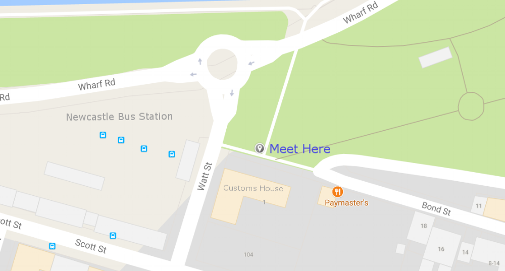 Newcastle Bar Hunter walking tour map