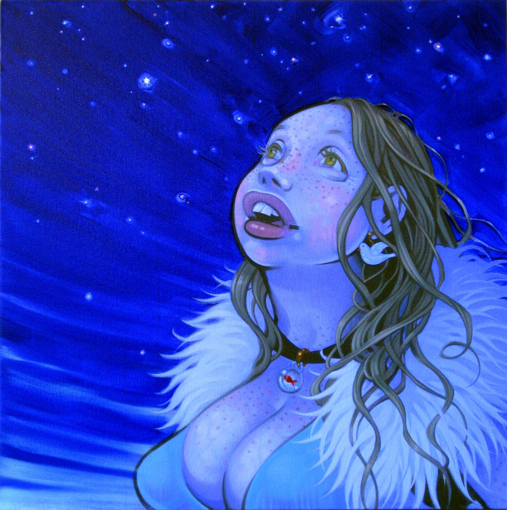 Twinkle, 2009, oil on canvas, 24 x 24 inches, courtesy of Greg Jacob
