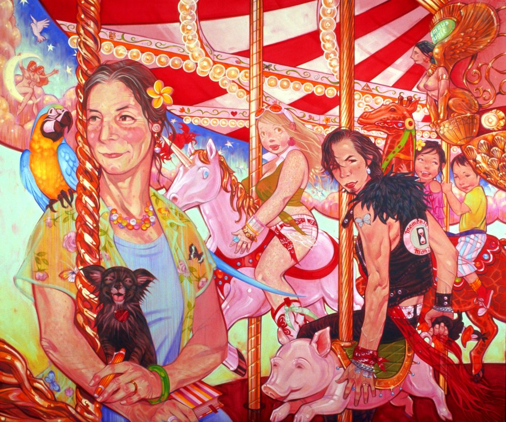 Elizabeth (Ma between Brain Surgeries), 2007, oil on canvas, 54 x 65 inches, by Taiyo la Paix