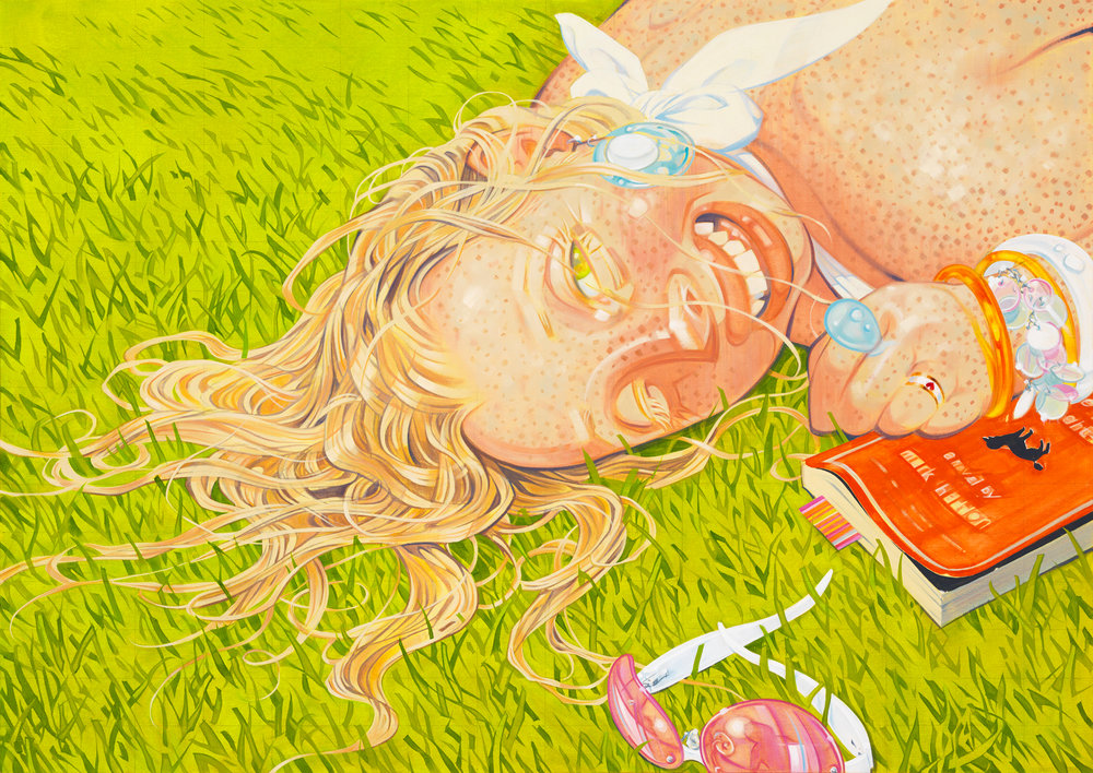 Last Days of Summer, the, 2007, oil on canvas, 34 x 48 inches, by Taiyo la Paix