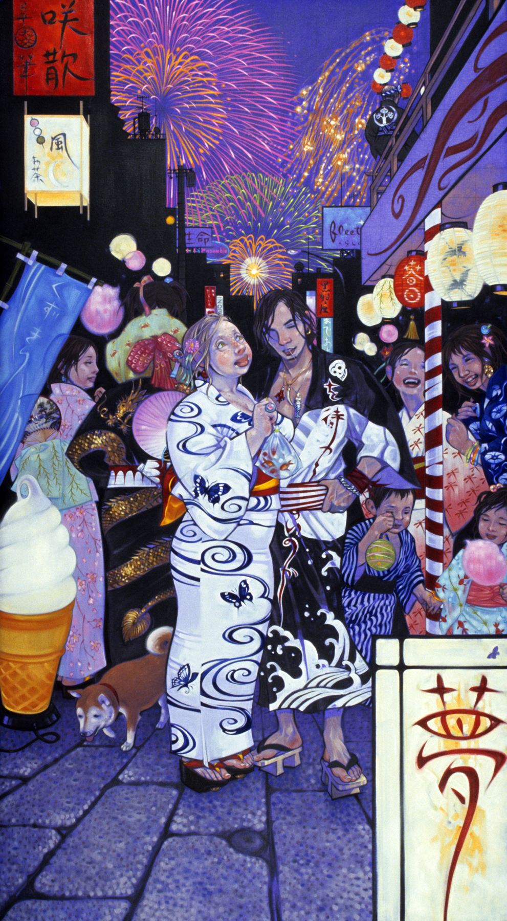 Shôsan (Bloom, Fade), 2006, oil on canvas, 84 x 46.5 inches