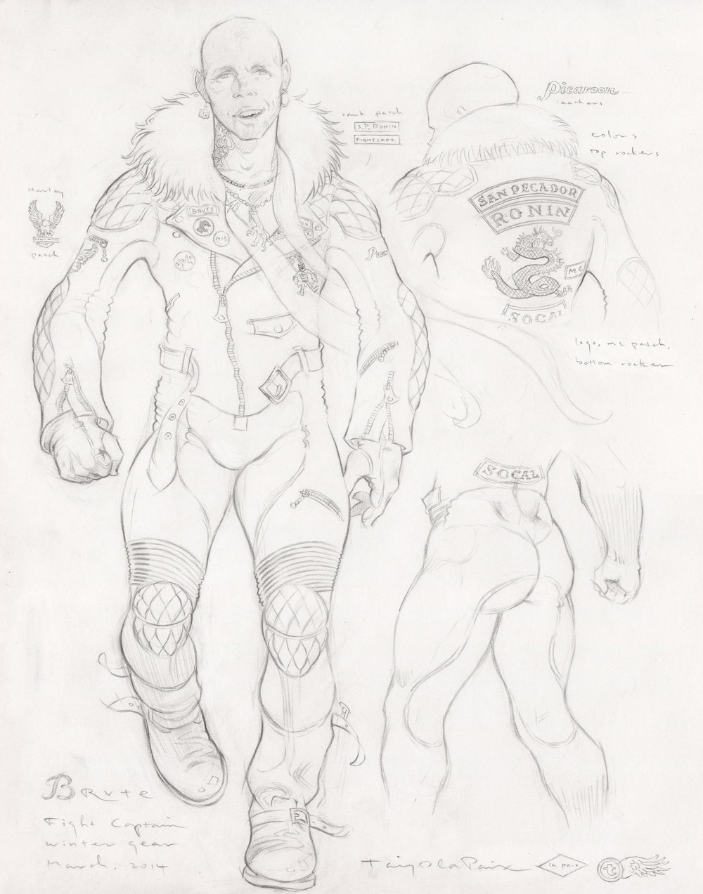Brute, Winter Gear, 2014, pencil on paper, 14 x 11 inches