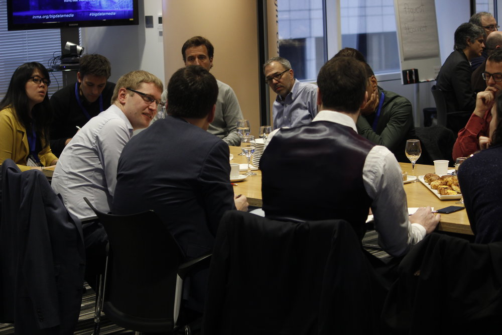 Sharing tactics and ideas at the Big Data for Media Strategy Exchange at the FT in London in 2017.