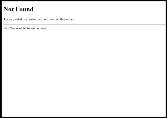 pagina 404 non personalizzata