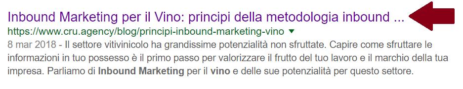 titolo del contenuto troppo lungo: deve essere più breve per essere indicizzato come marketing per il vino
