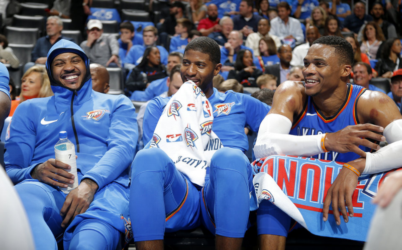 Carmelo Anthony, Paul George, & Russell Westbrook