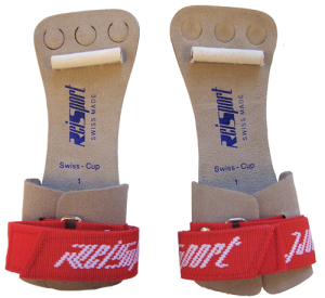 High bar dowel grips (note the shorter length and 3 finger holes). Retail for $50.00 - $65.00 online.