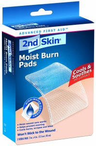 Spenco moist burn pads (soothes, but not durable enough to swing with)