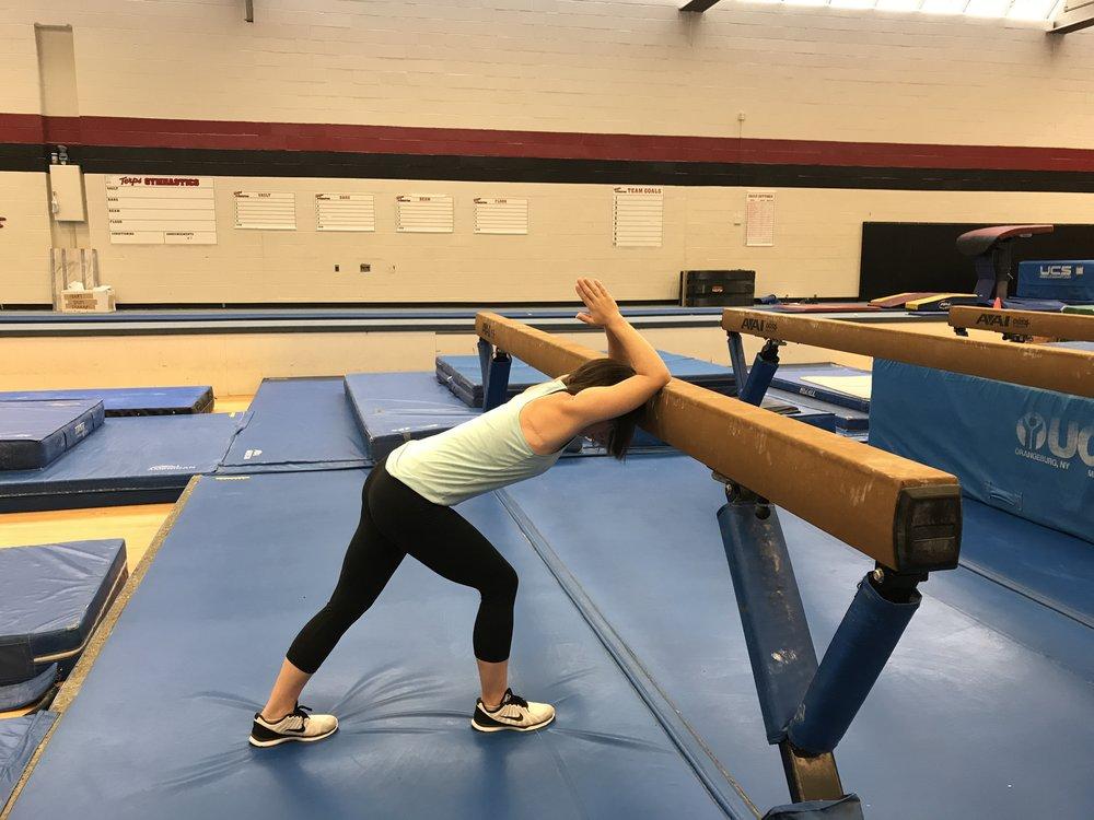 Shoulder Flexion Stretch (Variation 1):