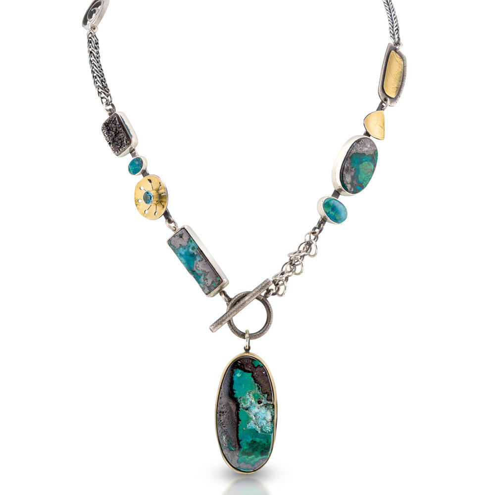 Chrysocolla Totem Necklace - Lynn Harrisberger Jewelry