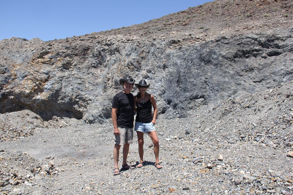 My husband's 1st trip to the Blue Moon Turquoise mine - He's hooked.