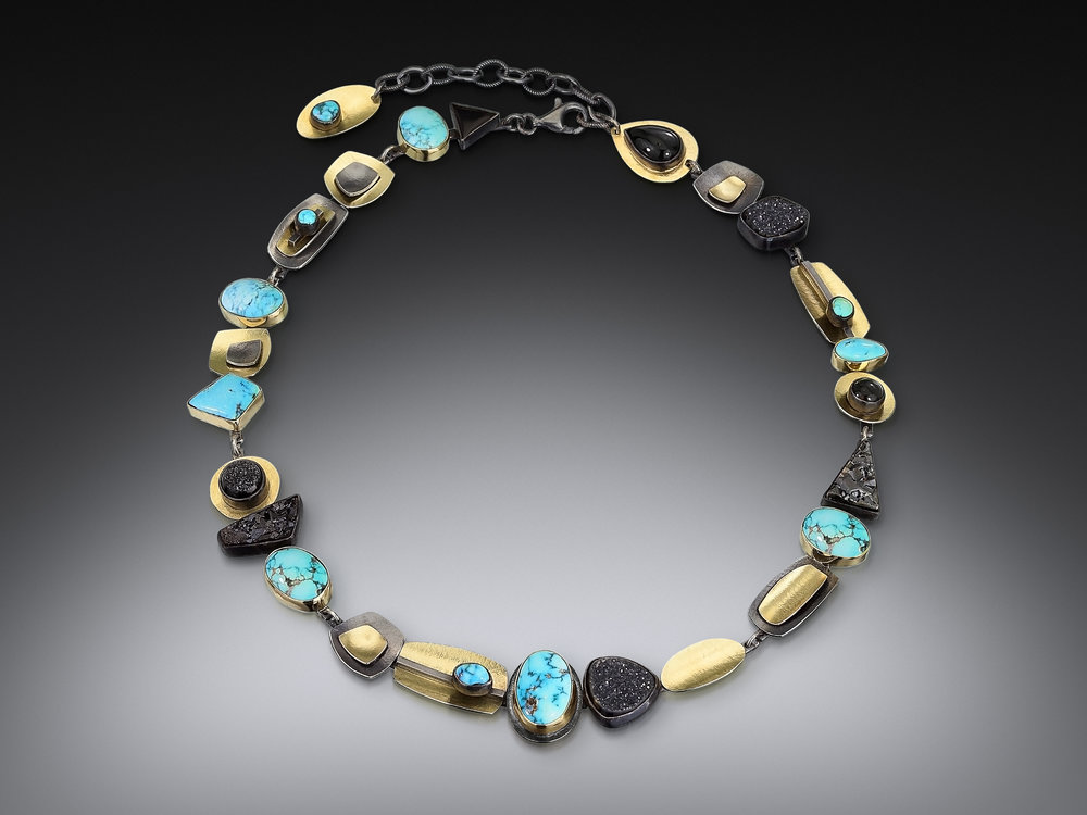 Blue Moon Totem Collar Necklace