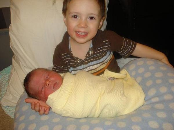 christian meeting his brother, cayden, for the first time.