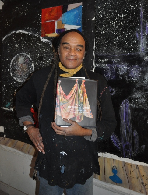 Ealy Mays at his studio in Paris proudly presents the  Four Generations