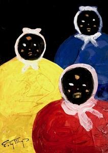 Three Mammys Primary Colors