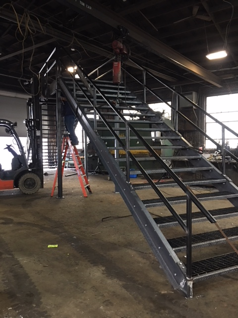 Fabricating Stairs for a construction company
