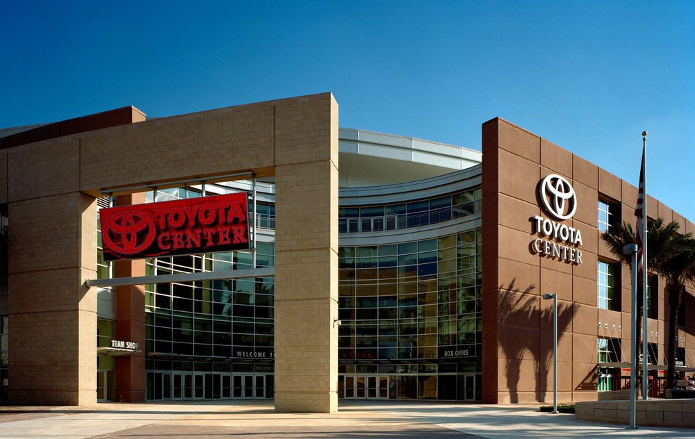 Toyota Center - Home of the NBA Houston Rockets19,300 seats, 95 suitesLEED Silver CertificationOpened 2003Full service janitorial