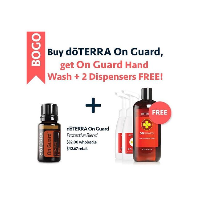 "Friends!!Throw out your artificially scented hand wash that Disrupts hormones (true story) and switch to an immune boosting one!  What a great way to stock up for ""back to school"" germs!! Buy OnGuard blend for $32 and receive OnGuard Hand wash and 2 dispensers! No more missed school or Work days! Dm me to grab it! #toxinfree #sickandtiredofbeingsickandtired #sickmom"