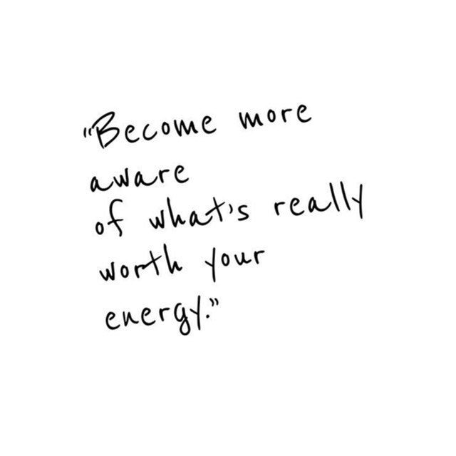Not everything is worth your energy- we don't need to respond to every dm or get involved in every controversial fight happening on social media- ask yourself is this worth my energy? #lightandlotus #energy