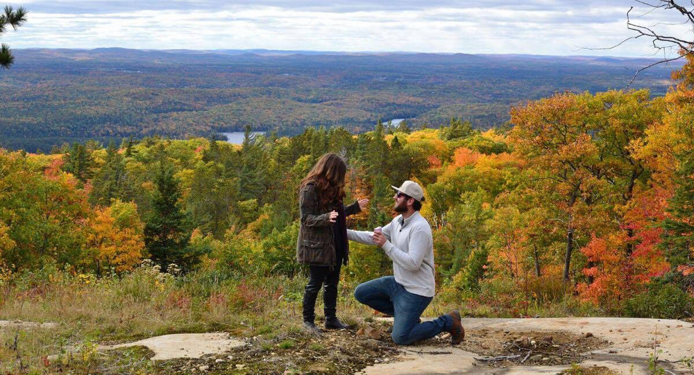 Photo taken by Ben during his mountain top proposal to Alyssa