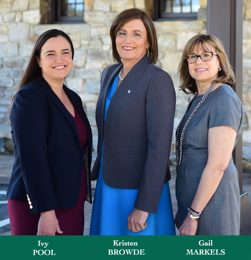 Candidates for New Castle, NY Town Board: Kristen Browde, Candidate for Town Supervisor, Democratic Party. Ivy Pool, Candidate for Town Board, Democratic Party. Gail Markels, Candidate for Town Board, Democratic Party.