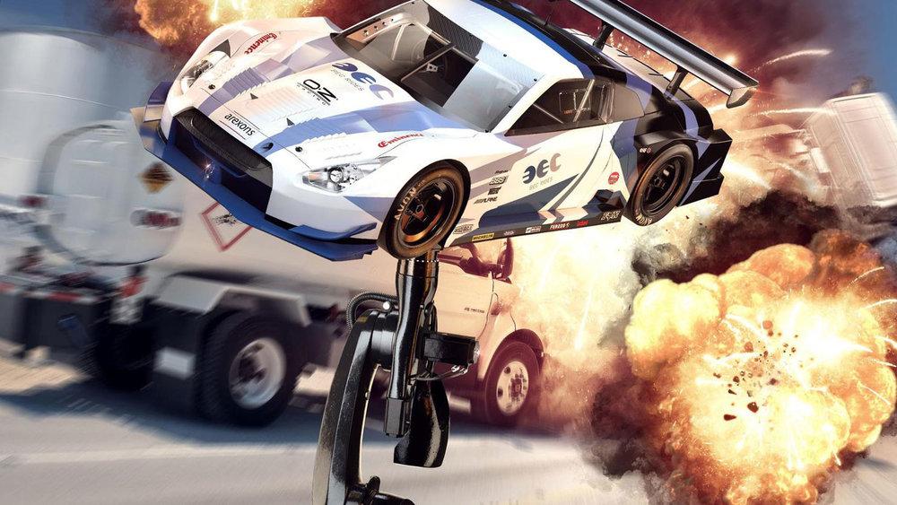 使用机器人/动画汽车爆炸场景中的作用 Robots in action / Animated Car motion for explosion effects