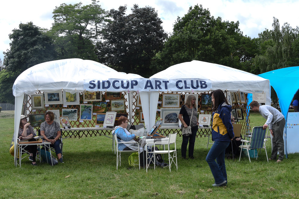 A friendly art community. Hurst Community Centre. Contact name, Christina Simmons, Contact number 0203025390