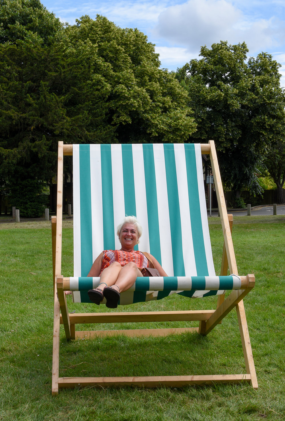 Giant deck chair fun!