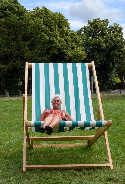 Giant deck chair fun! -